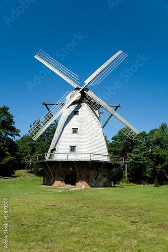 beautiful windmill at Ventspils, Latvia