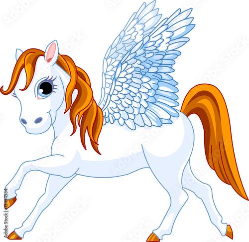 Poster Pony Cute winged horse Pegasus of Greek mythology