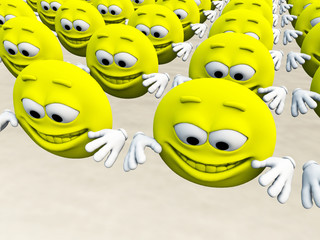 Lots Of Happy Cartoon Men 4