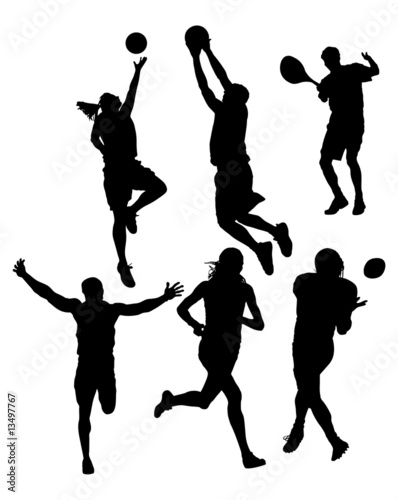 basketball player silhouette. Sports Silhouettes Vector