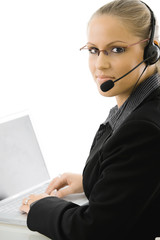 IT-support operator in headset