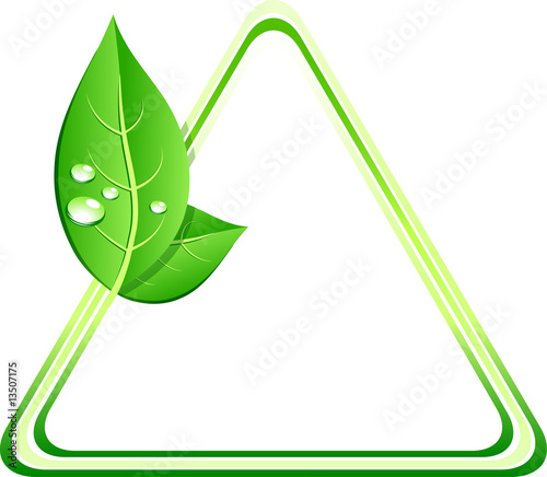 Green ecology background. Vector illustration.