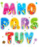 Fototapety Spring or summer alphabet set letters M - V