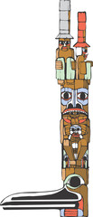 Two Hat Totem Pole