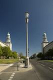 Fototapete Blau - Lampe - Gebäude