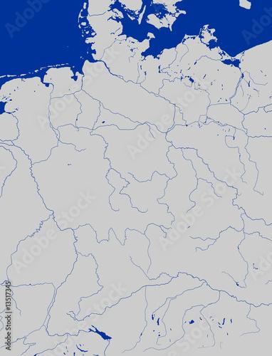 deutschlandkarte fl sse als posters drucken und berechnen 13517345. Black Bedroom Furniture Sets. Home Design Ideas