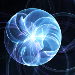 Abstract magical fractal sphere background