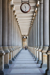 Time is passing... (colonnade in Karlovy Vary, Czech Republic) © sborisov
