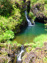 Waterfalls along the Road to Hana, Maui, Hawaii