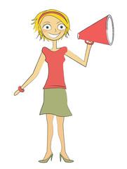 femme haut-parleur