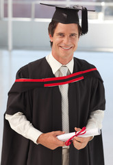 Man Graduating from University