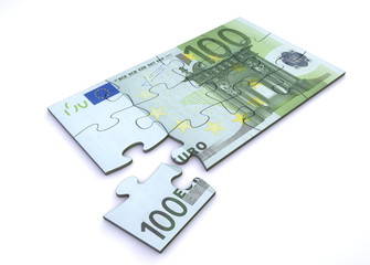 100 Euro Note Puzzle