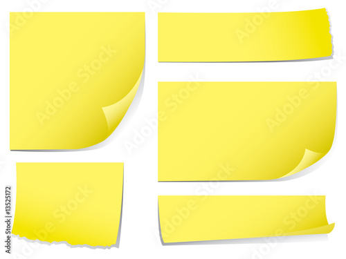 Sticky memo notes.  Check my portfolio for more stationery.