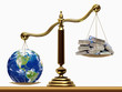 Leinwandbild Motiv Safe the Earth. Concept of ecology.