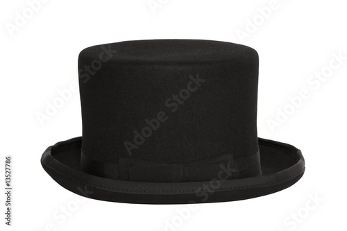 Top hat with clipping path - 13527786