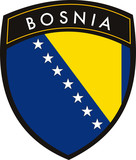 Bosnia vector crest flag on withe background poster