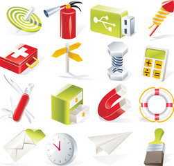 Vector objects icons set. Part 6