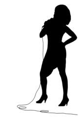 cantante (vettoriale)