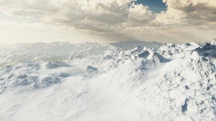 Wilderness Snowy Mountain Range Animation (1068)