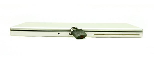 concept shot of secured laptop
