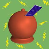 Moneybox solar panels lightning poster
