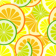 citrus seamless vector pattern