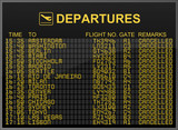 Fototapety Cancelled Flights