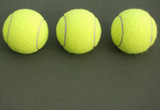 Three tennis ball