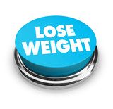 Lose Weight - Blue Button poster