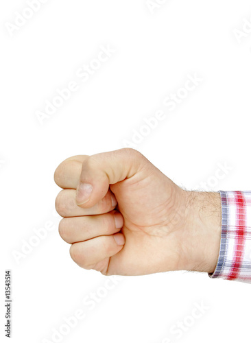 Fist isolated on white