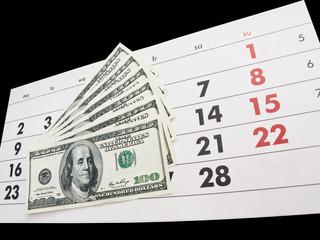 Calendar and dollars