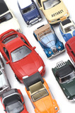 model car on white closeup poster