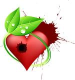 Killed love symbol. Vector illustration. poster