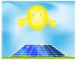 sole e pannello fotovoltaico
