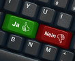"""Ja"" & ""Nein"" keys on keyboard"