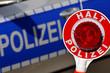 Polizeikontrolle Halt Polizei Polizeikelle