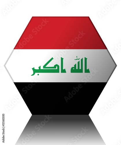 drapeau irak hexagone iraq flag banner