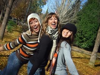 Cheerfull girlfriends