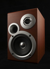 Speaker on black with clipping path. See also similar photos.