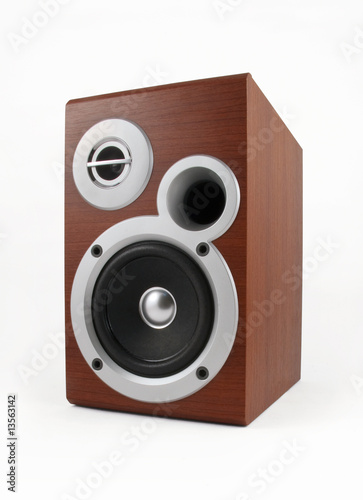 Speaker on white with clipping path. See also similar photos.