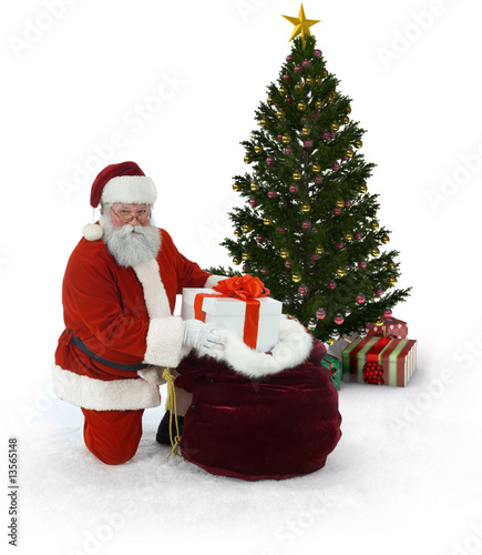 Santa and Christmas Tree