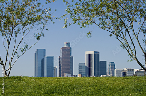 Los Angeles Skyline on Spring Morning