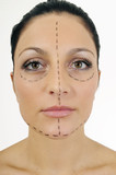 portrait of a woman before face-lift surgery poster
