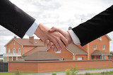 Business hand shake. Successfully spent transaction. poster
