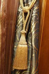 Knot and tassel on luxury cutrain