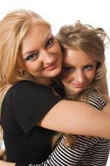 embracing similar sisters