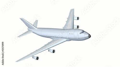 Plane Animation loop hd1080 white background