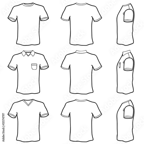 t shirt template vector. t shirt template set (front,