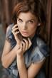 Beautiful sensual young woman posing