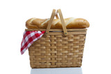 Picnic Basket with Gingham poster